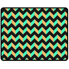Modern Retro Chevron Patchwork Pattern Fleece Blanket (medium)