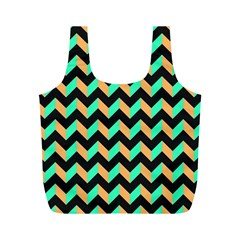 Modern Retro Chevron Patchwork Pattern Full Print Recycle Bags (m)  by creativemom