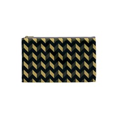 Modern Retro Chevron Patchwork Pattern Cosmetic Bag (small)  by creativemom