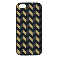 Modern Retro Chevron Patchwork Pattern Apple Iphone 5 Premium Hardshell Case by creativemom