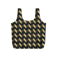 Modern Retro Chevron Patchwork Pattern Full Print Recycle Bags (s)  by creativemom
