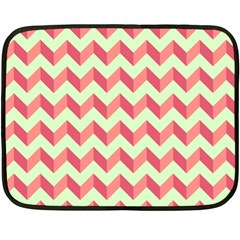 Modern Retro Chevron Patchwork Pattern Double Sided Fleece Blanket (mini)
