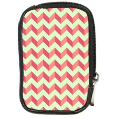 Modern Retro Chevron Patchwork Pattern Compact Camera Cases