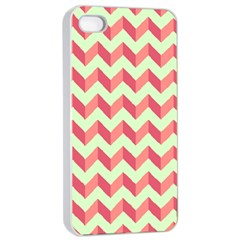 Modern Retro Chevron Patchwork Pattern Apple Iphone 4/4s Seamless Case (white) by creativemom
