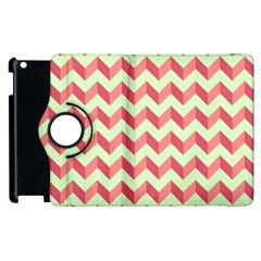 Modern Retro Chevron Patchwork Pattern Apple Ipad 3/4 Flip 360 Case