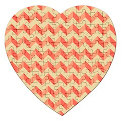 Modern Retro Chevron Patchwork Pattern Jigsaw Puzzle (heart)
