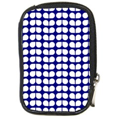 Blue And White Leaf Pattern Compact Camera Cases by creativemom