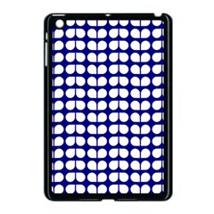Blue And White Leaf Pattern Apple Ipad Mini Case (black) by creativemom