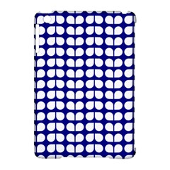 Blue And White Leaf Pattern Apple Ipad Mini Hardshell Case (compatible With Smart Cover) by creativemom