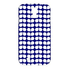 Blue And White Leaf Pattern Samsung Galaxy S4 I9500/i9505 Hardshell Case