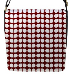 Red And White Leaf Pattern Flap Messenger Bag (s) by creativemom