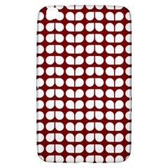 Red And White Leaf Pattern Samsung Galaxy Tab 3 (8 ) T3100 Hardshell Case  by creativemom