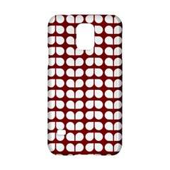 Red And White Leaf Pattern Samsung Galaxy S5 Hardshell Case  by creativemom