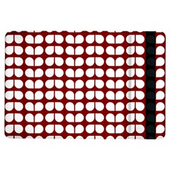 Red And White Leaf Pattern Ipad Air Flip