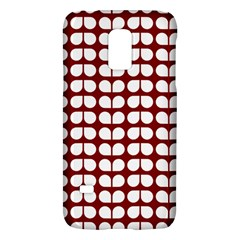 Red And White Leaf Pattern Galaxy S5 Mini by creativemom