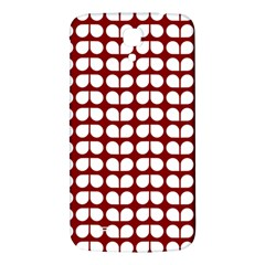 Red And White Leaf Pattern Samsung Galaxy Mega I9200 Hardshell Back Case by creativemom