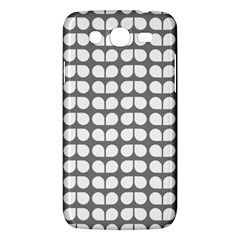 Gray And White Leaf Pattern Samsung Galaxy Mega 5 8 I9152 Hardshell Case  by creativemom