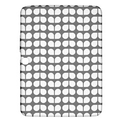 Gray And White Leaf Pattern Samsung Galaxy Tab 3 (10 1 ) P5200 Hardshell Case  by creativemom
