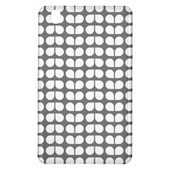 Gray And White Leaf Pattern Samsung Galaxy Tab Pro 8 4 Hardshell Case by creativemom