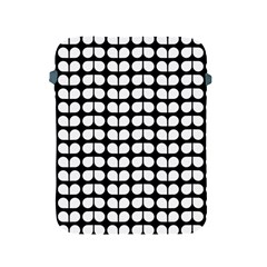 Black And White Leaf Pattern Apple Ipad 2/3/4 Protective Soft Cases