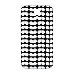 Black And White Leaf Pattern Samsung Galaxy S4 I9500/i9505  Hardshell Back Case