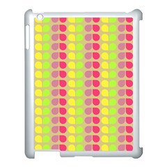 Colorful Leaf Pattern Apple Ipad 3/4 Case (white)