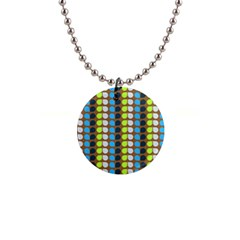 Colorful Leaf Pattern Button Necklaces