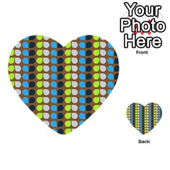 Colorful Leaf Pattern Multi Purpose Cards (heart)  by creativemom