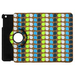Colorful Leaf Pattern Apple Ipad Mini Flip 360 Case