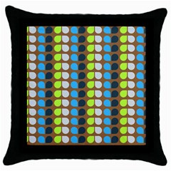 Colorful Leaf Pattern Throw Pillow Cases (black)