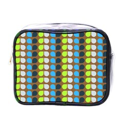 Colorful Leaf Pattern Mini Toiletries Bags