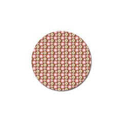 Cute Floral Pattern Golf Ball Marker (4 Pack)