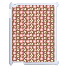 Cute Floral Pattern Apple Ipad 2 Case (white) by creativemom