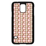 Cute Floral Pattern Samsung Galaxy S5 Case (Black) Front