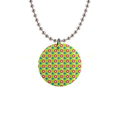 Cute Floral Pattern Button Necklaces by creativemom