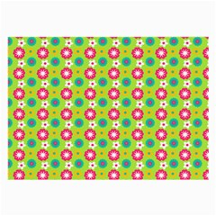 Cute Floral Pattern Large Glasses Cloth (2 Side) by creativemom