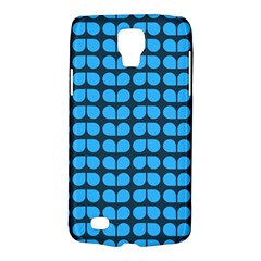 Blue Gray Leaf Pattern Galaxy S4 Active by creativemom