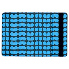 Blue Gray Leaf Pattern Ipad Air 2 Flip by creativemom
