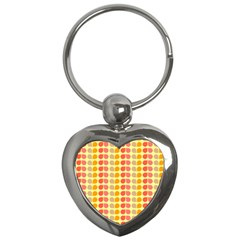 Colorful Leaf Pattern Key Chains (heart)