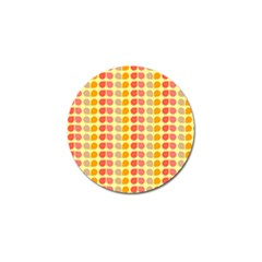 Colorful Leaf Pattern Golf Ball Marker