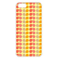 Colorful Leaf Pattern Apple Iphone 5 Seamless Case (white) by creativemom