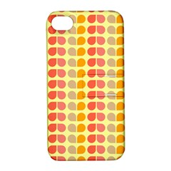 Colorful Leaf Pattern Apple Iphone 4/4s Hardshell Case With Stand by creativemom