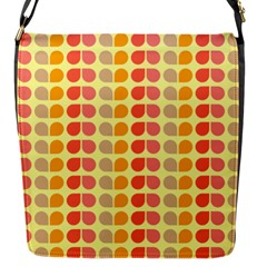 Colorful Leaf Pattern Flap Messenger Bag (s) by creativemom