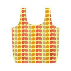 Colorful Leaf Pattern Full Print Recycle Bags (m)