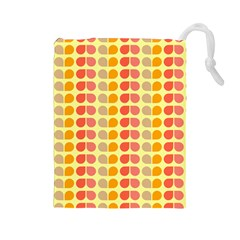 Colorful Leaf Pattern Drawstring Pouches (large)  by creativemom