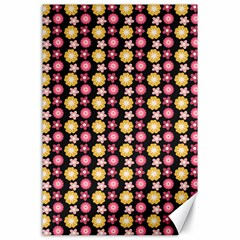 Cute Floral Pattern Canvas 24  X 36  by creativemom