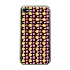 Cute Floral Pattern Apple Iphone 4 Case (clear) by creativemom