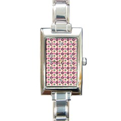 Cute Floral Pattern Rectangle Italian Charm Watches by creativemom
