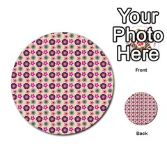 Cute Floral Pattern Multi Purpose Cards (round)  by creativemom