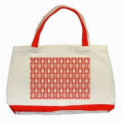 Pattern 509 Classic Tote Bag (red)